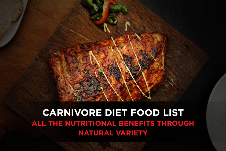 Carnivore Diet Food List Featured Image