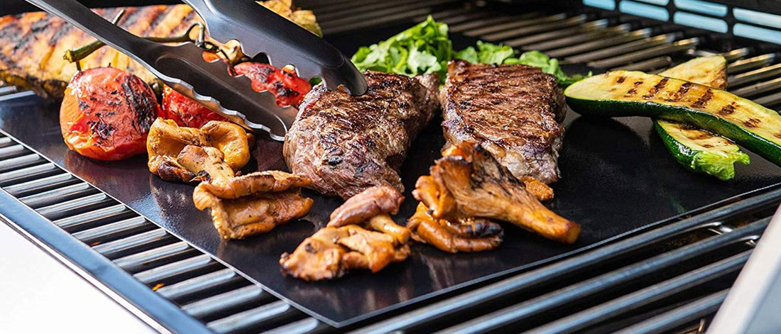 grill mats with meat