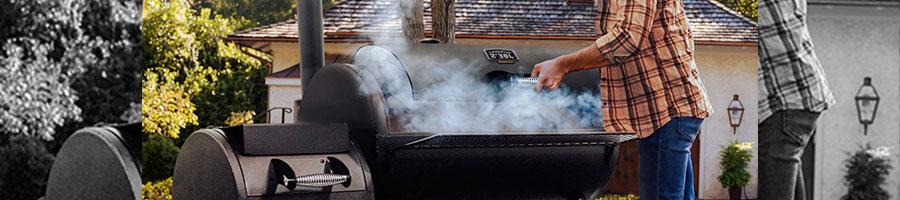 cooking using a offset smoker
