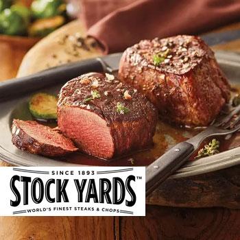 the meat stockyards steaks serves