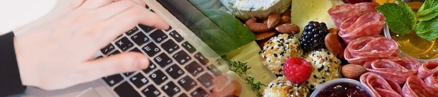 typing, and food