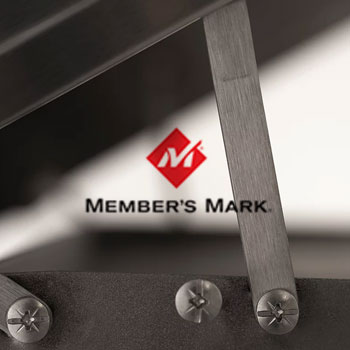 Member's Mark logo and grill