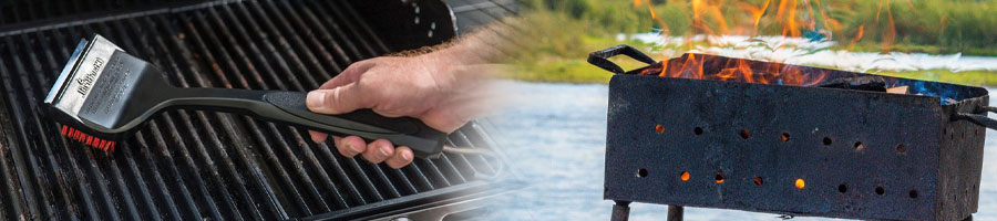 Cleaning and heating grill grates