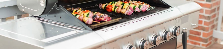 Using a electric grill to heat up meat and vegetables