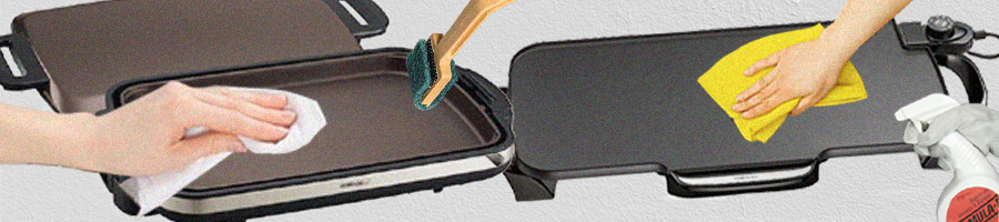 Cleaning an electric griddle