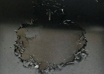 A close up of a peeling griddle top