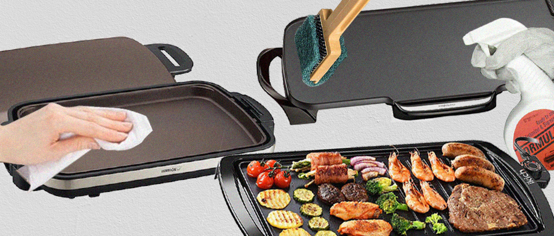 Cleaning an electric griddle tutorial