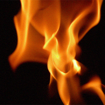 A close up image of a flame