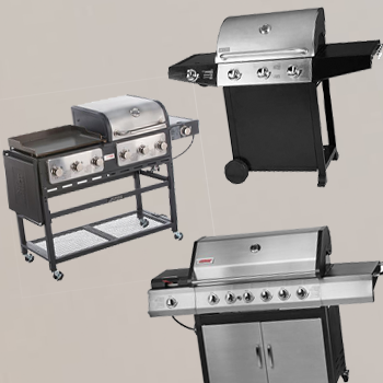 Different kinds of outdoor gourmet grills