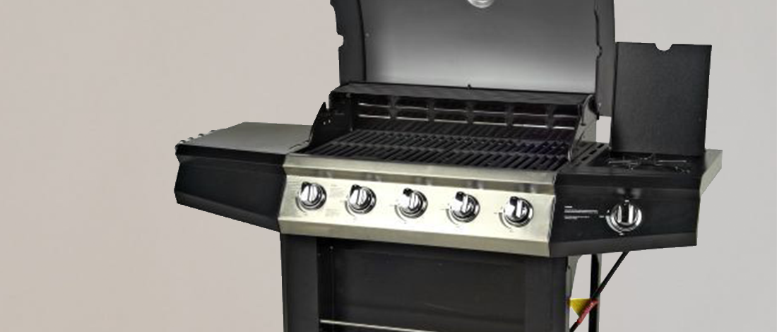 A close up photo of an outdoor gourmet grill