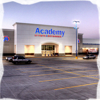 Entrance to the Academy, company that makes outdoor gourmet grills