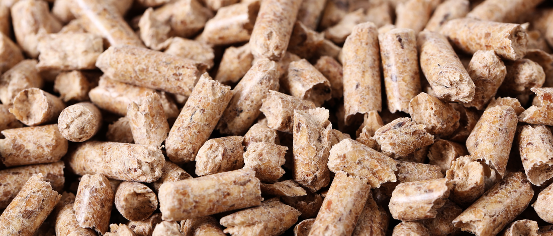 Close up images of wood pellets