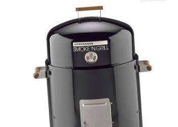 A small charcoal smoker
