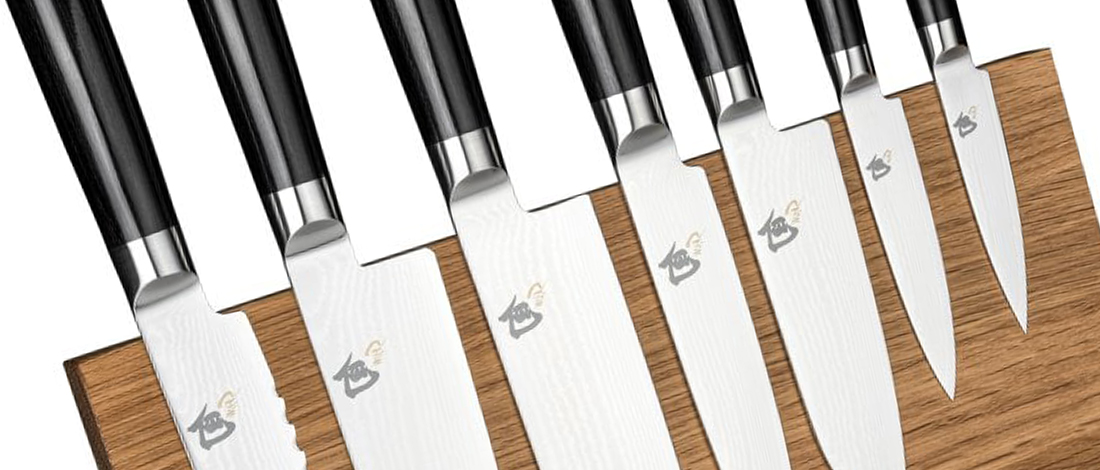 A collection of Shun knives