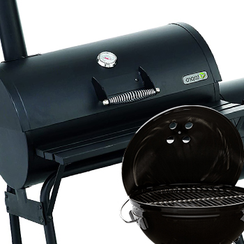 A smoker and a small grill