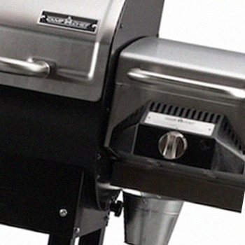 A Camp Chef Woodwind grill with Sear Box