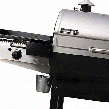 A Camp Chef Woodwind 36 grill with sidekick