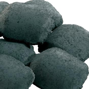 Close up image of ceramic briquettes