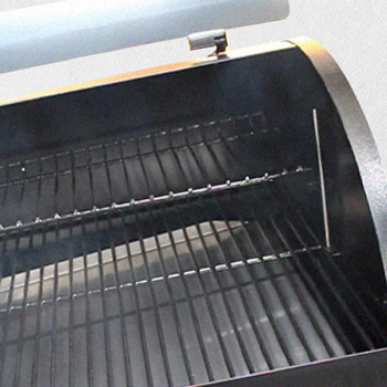 The grill cooking space of Traeger