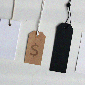 Different price tags
