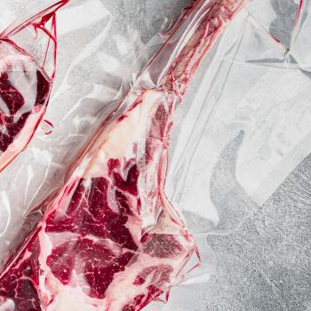 A perfectly sealed T-bone steak