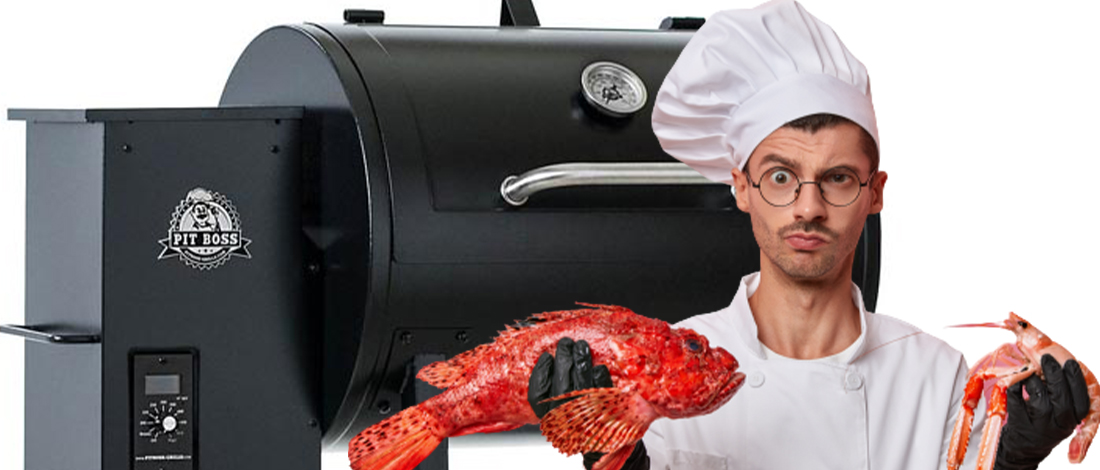 Pit Boss 700FB; Chef holding uncooked food