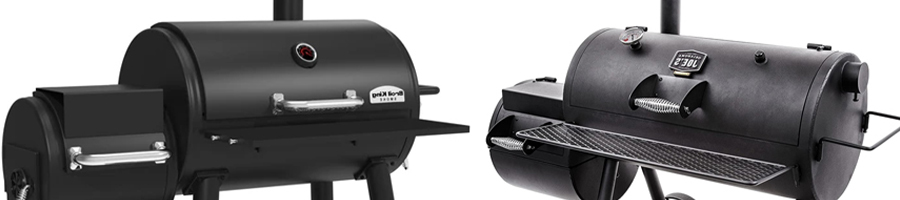 Two different kinds of charcoal smokers