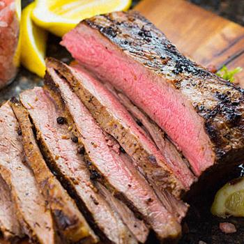 A cut of flank steak