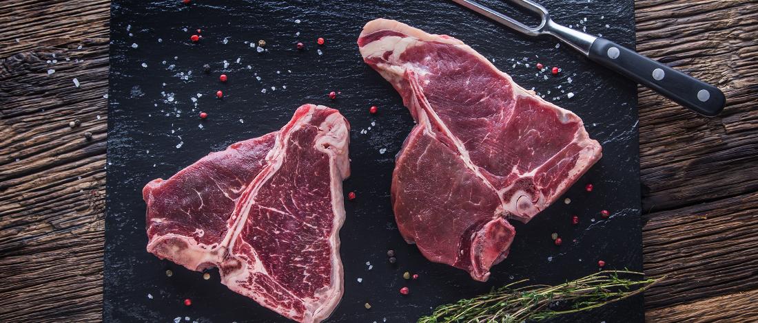 A porterhouse steak