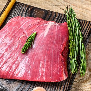 A flank bavette meat steak