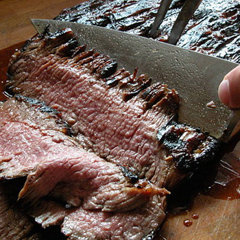 Slicing a flank steak